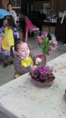 Juliana y las flores
