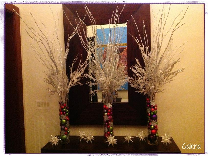 Decoracion Jarrones Para Navidad ~ tama?os y de diferentes colores, adornos planos en forma de copos de