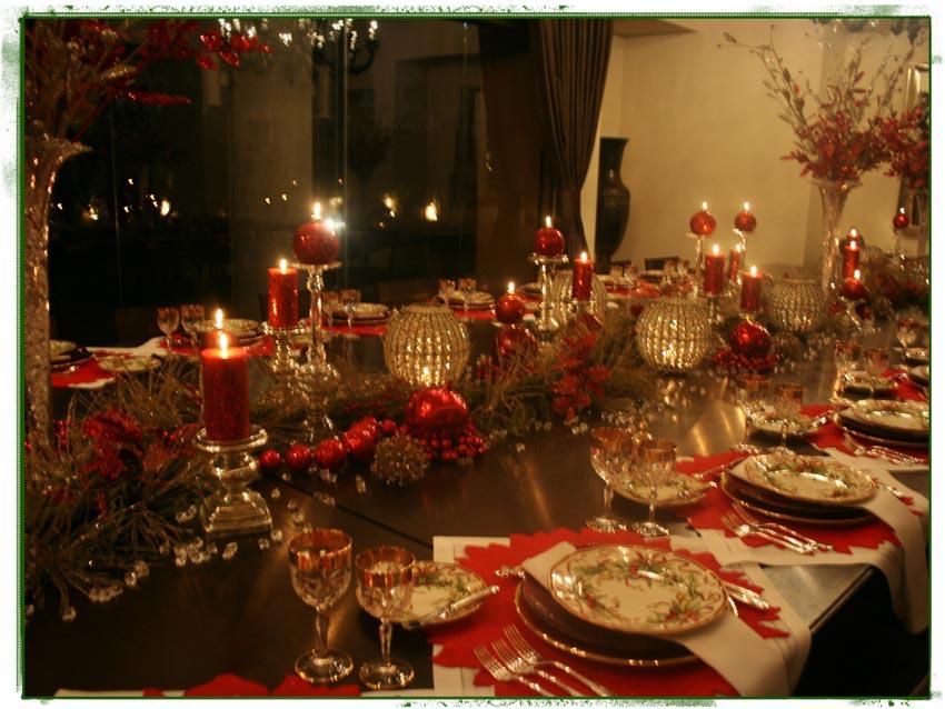 la cena navide a ana galena On decoracion de mesa navidena 2014