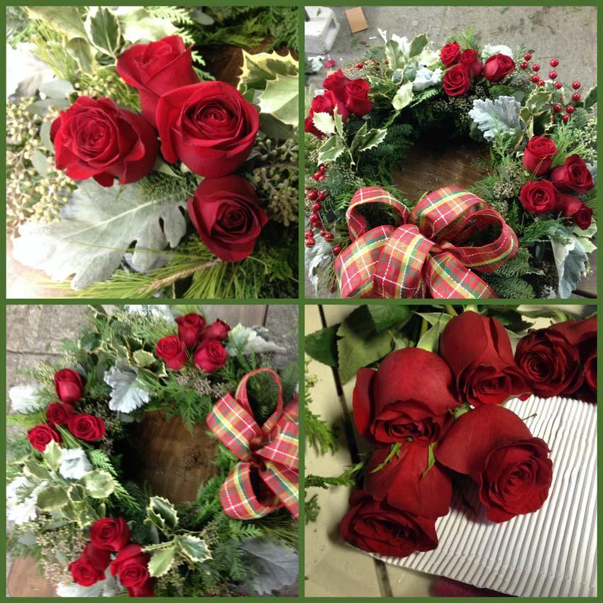 Navidad-Christmas-corona-navideña-acomodando-las-rosas