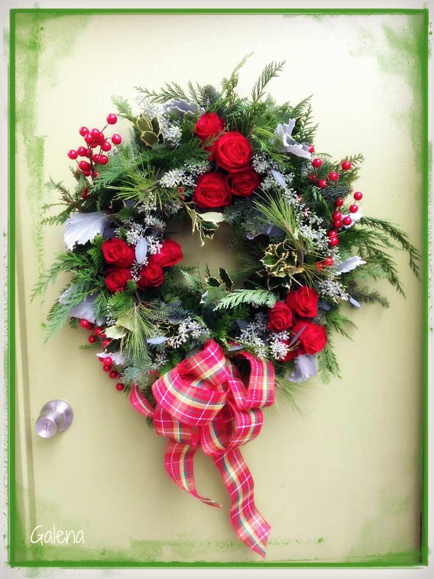 Navidad-Christmas-corona-navideña-corona-puerta