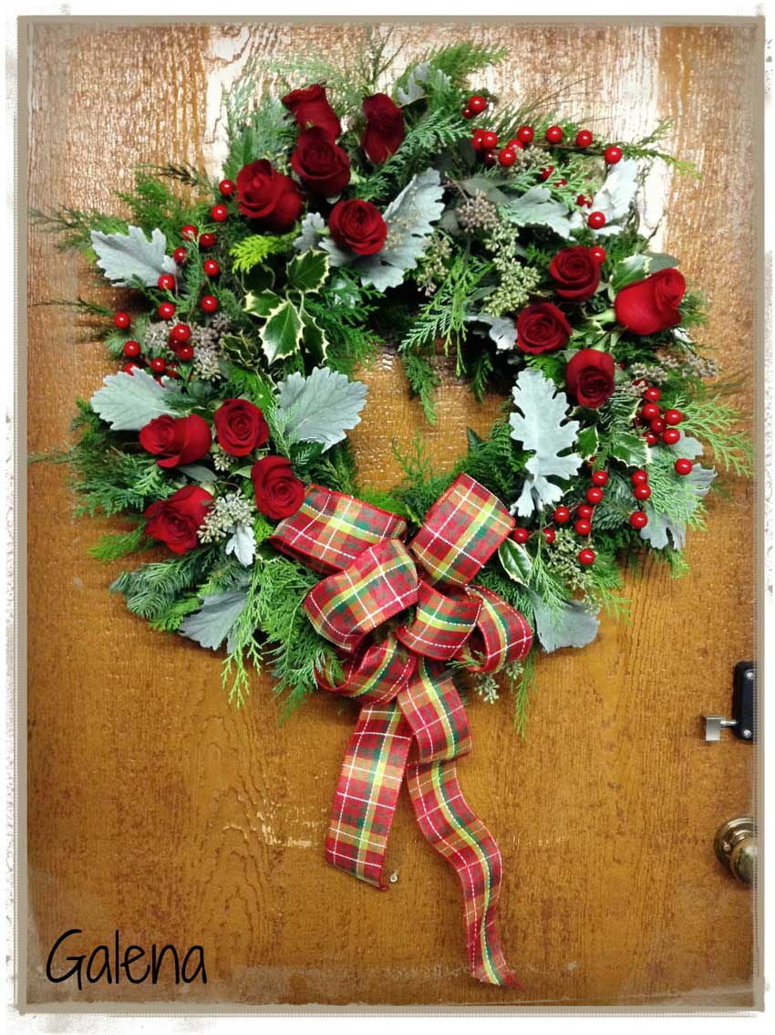 Corona navide a para la puerta ana galena for Como hacer una corona de navidad para la puerta