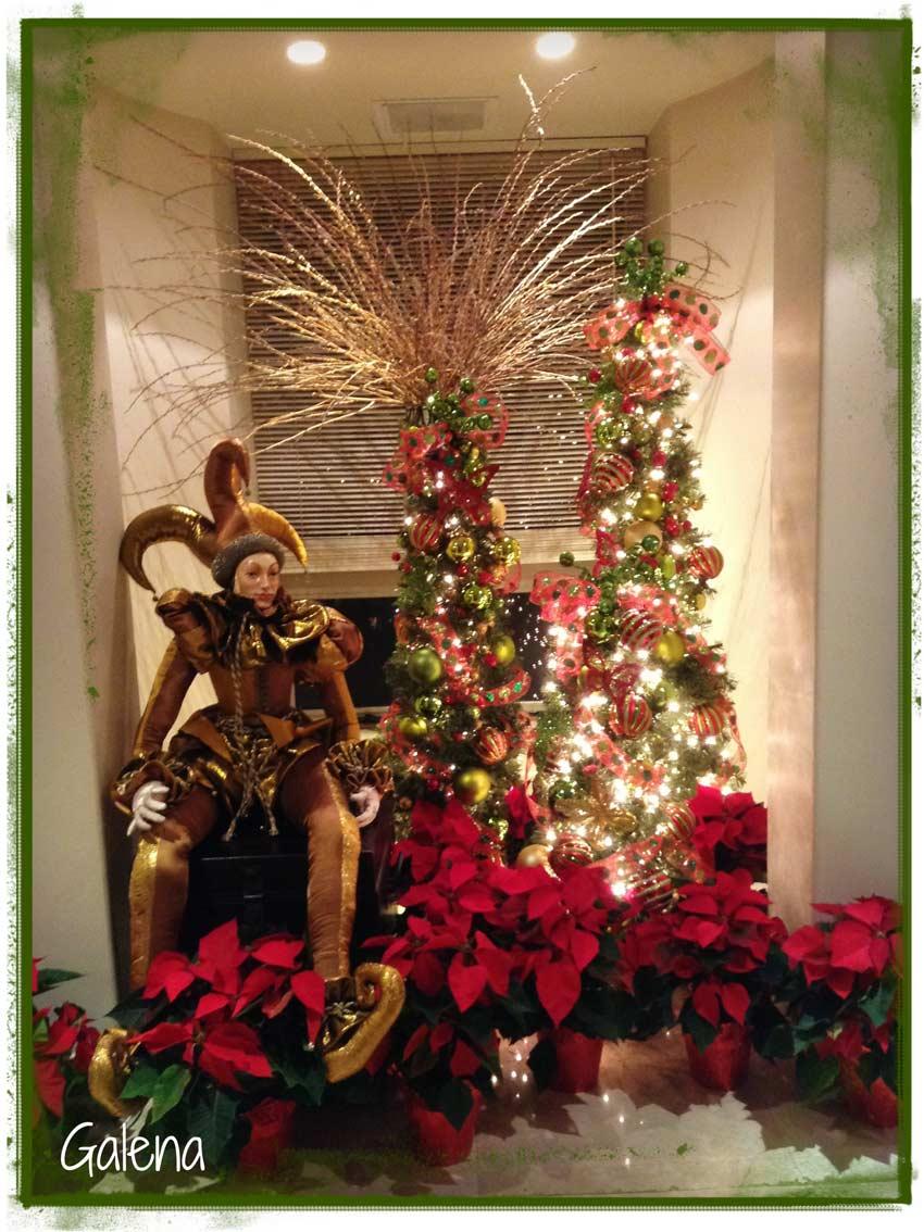Decoraci n de navidad rojo con verde ana galena for Decoracion navidena con ninos