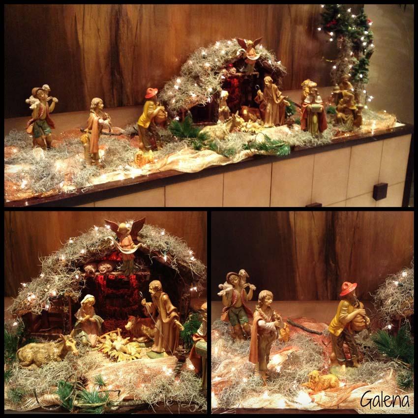 Decoraci n de navidad rojo con verde ana galena - Nacimiento para navidad ...