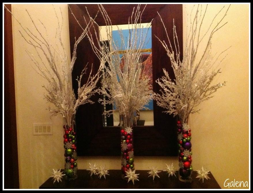 decorando para navidad la entrada
