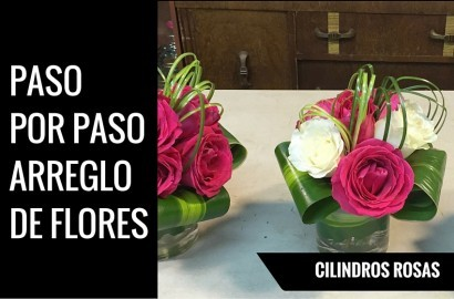 cilindros con rosas