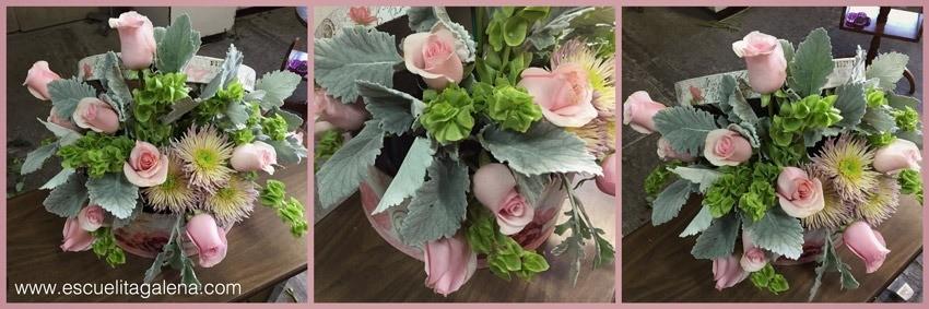 dusty-miller-en-arreglo-de-flores-vintage