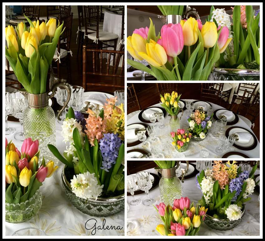 decoración-mesa-con-tulipanes-y-jacintos