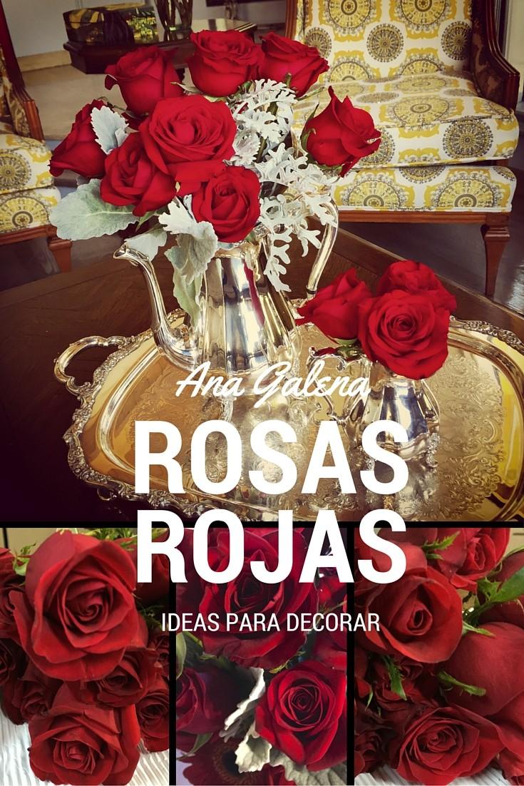 rosas rojas en arreglos florales