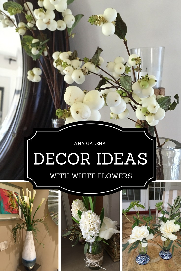 DECOR WITH WHITE FLOWERS