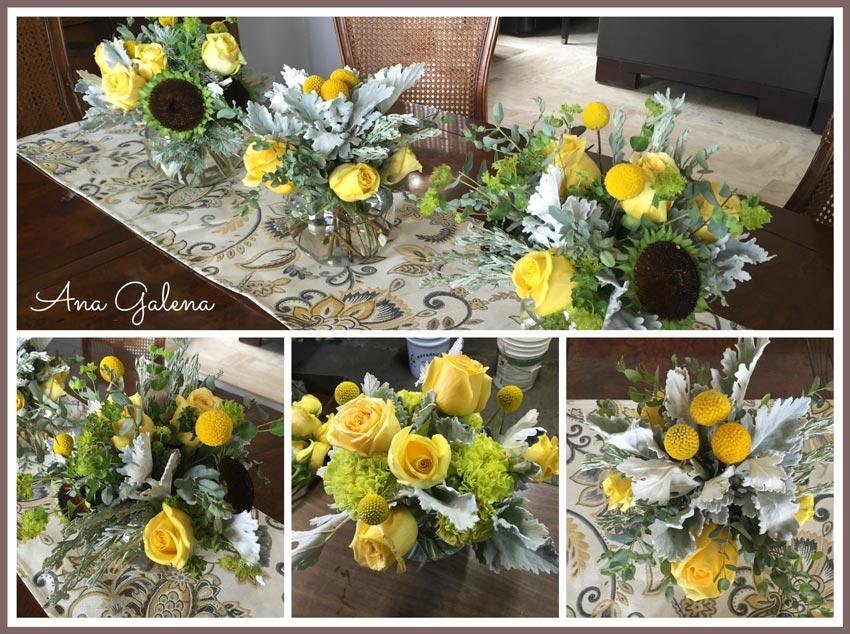 decorando-la-mesa-con-flores-amarillas