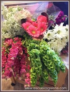 flores rosas para hacer arreglo floral
