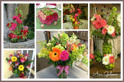 arreglos de flores con gerberass