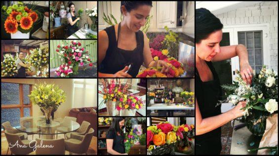 ana galena trabajando con flores