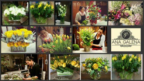 decorando con flores Ana Galena