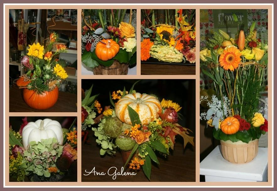 calabazas decorativas de otoño