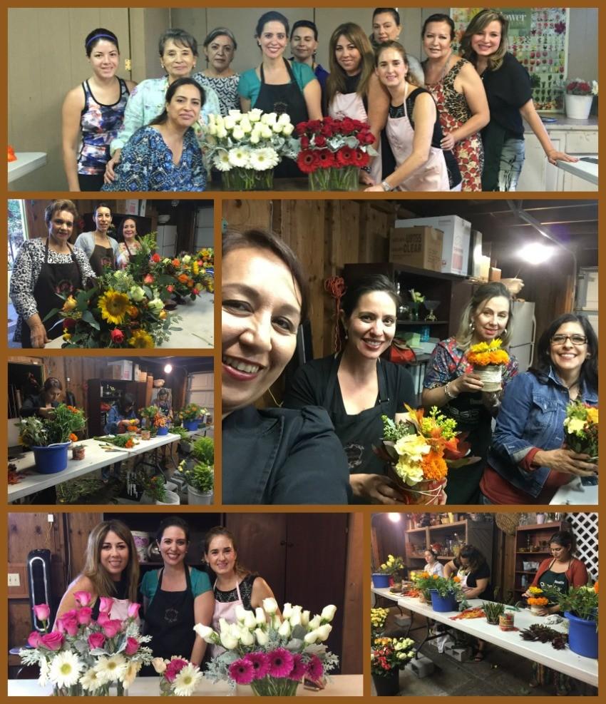 en el taller de flores