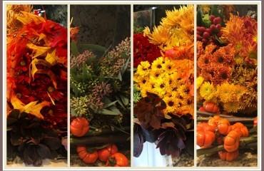 las flores en el otoño