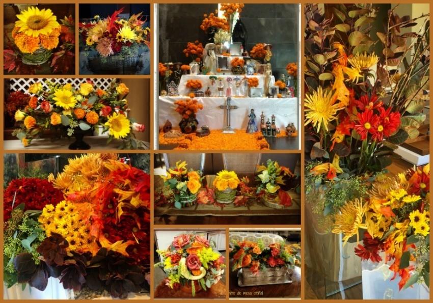 otoño y flores