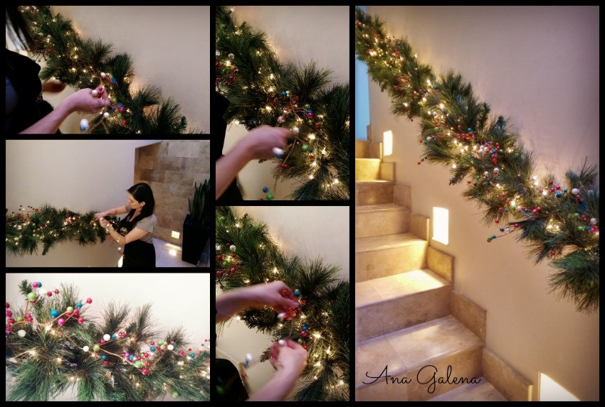 christams garland tutorial