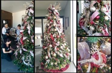 decoracion navideña con vidrio de mercurio