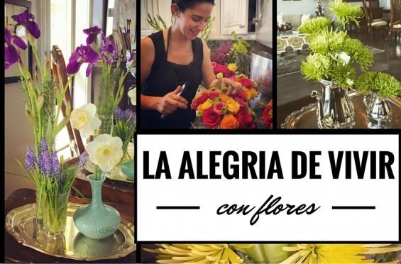 la alegría de vivir con flores