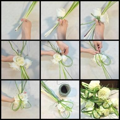 Como hacer un buquet de rosas