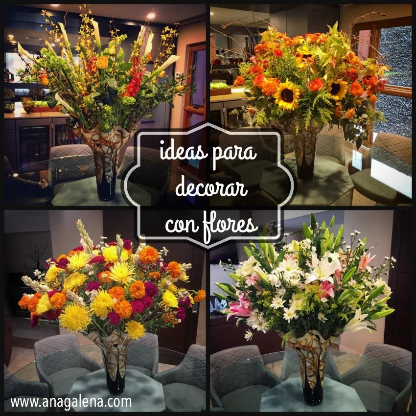 ideas para decorar con flores durante el año