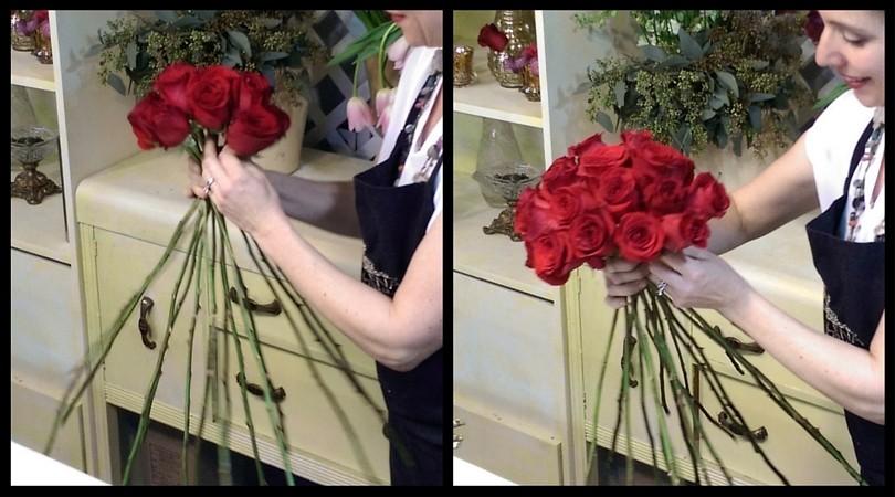 Como hacer un ramo de rosas rojas ana galena - Como hacer un ramo de flores artificiales ...