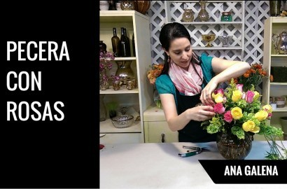PECERA CON ROSAS
