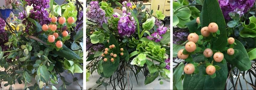 arreglos de flores con grano de cafe