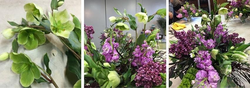 arreglos de flores con helleborus