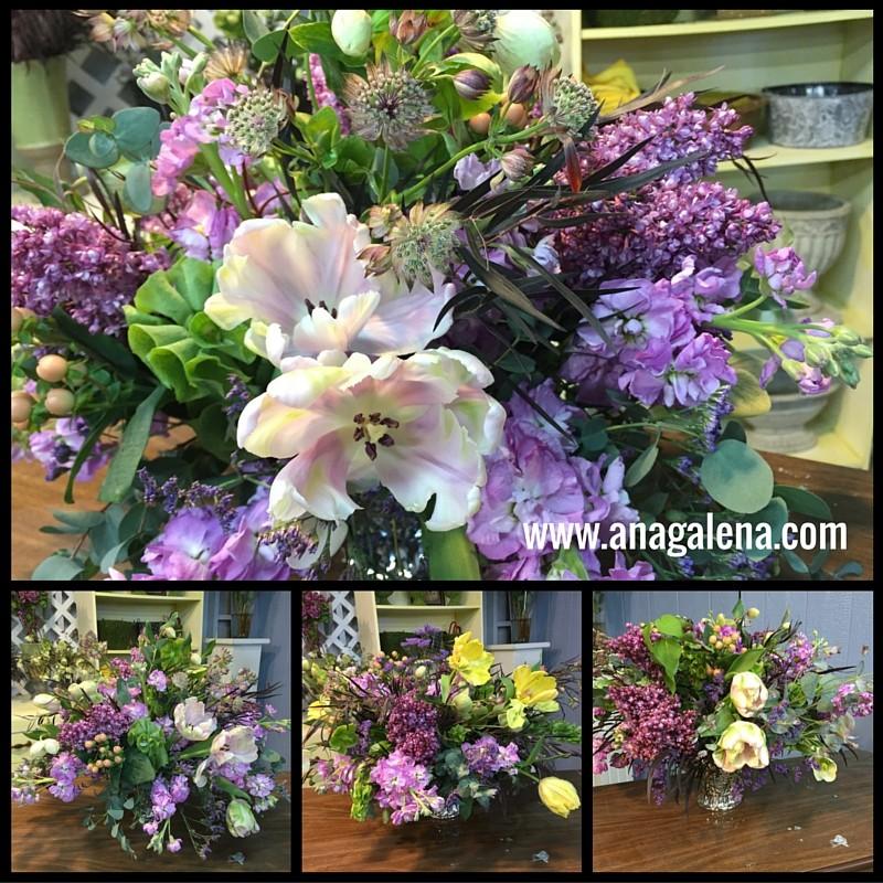 arreglos de flores en copita