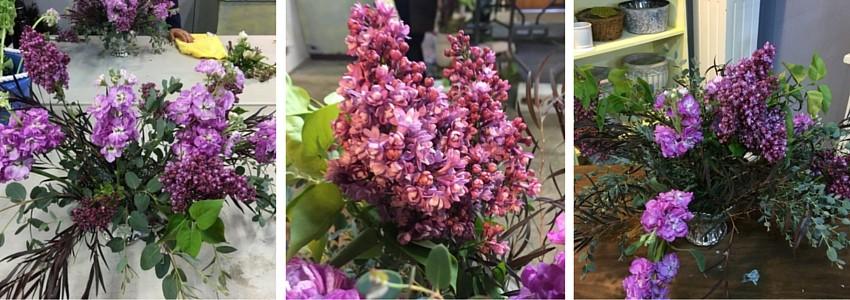 como hacer arreglos de flores con lilacs