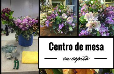 Caja de sombrero con flores vintage ana galena - Hacer un centro de flores ...