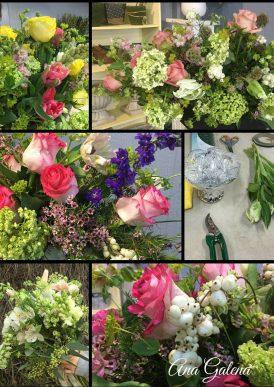 arreglo de flores con soltura y movimiento
