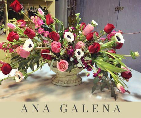 Arreglo de flores romántico
