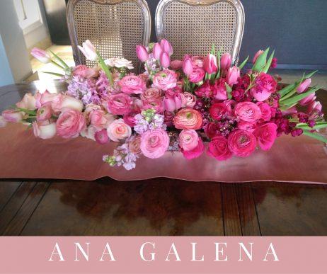 flores en todos los tonos de rosa