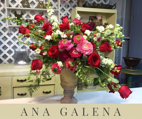 arreglo de flores romantico