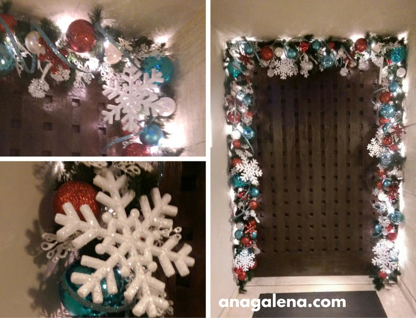 Ideas para decorar la guirnalda en navidad ana galena for Guirnaldas navidenas para puertas y ventanas