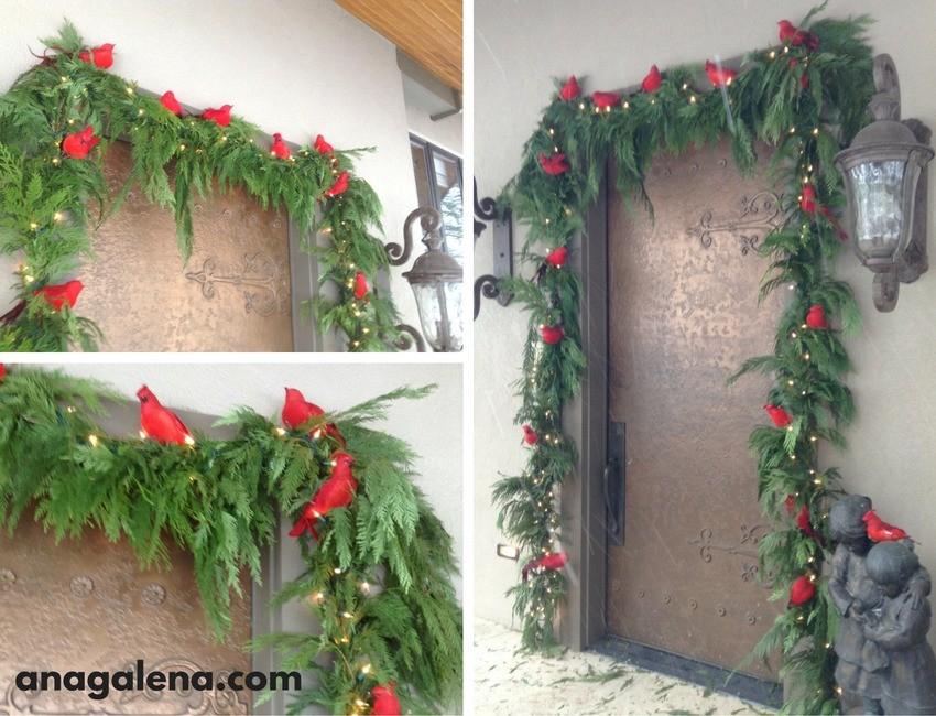Ideas para decorar la guirnalda en navidad ana galena - Decoracion de guirnaldas ...