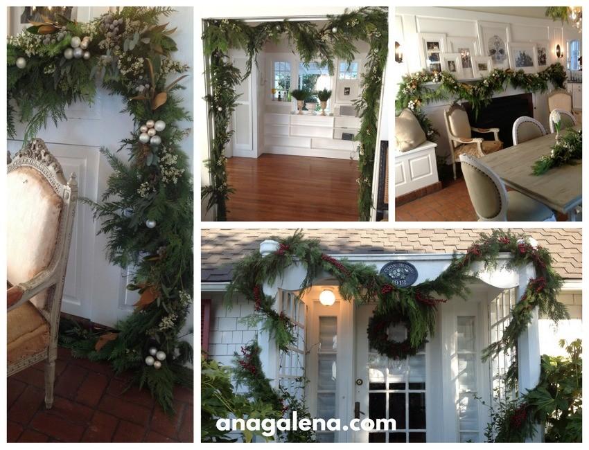 Ideas para decorar la guirnalda en navidad ana galena for Ideas para decorar marcos de puertas