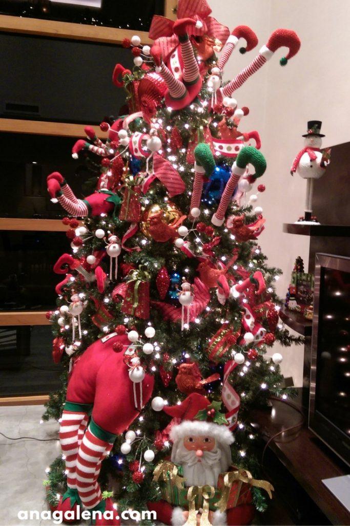 33 ideas para decorar tu rbol de navidad ana galena - Como poner el arbol de navidad ...