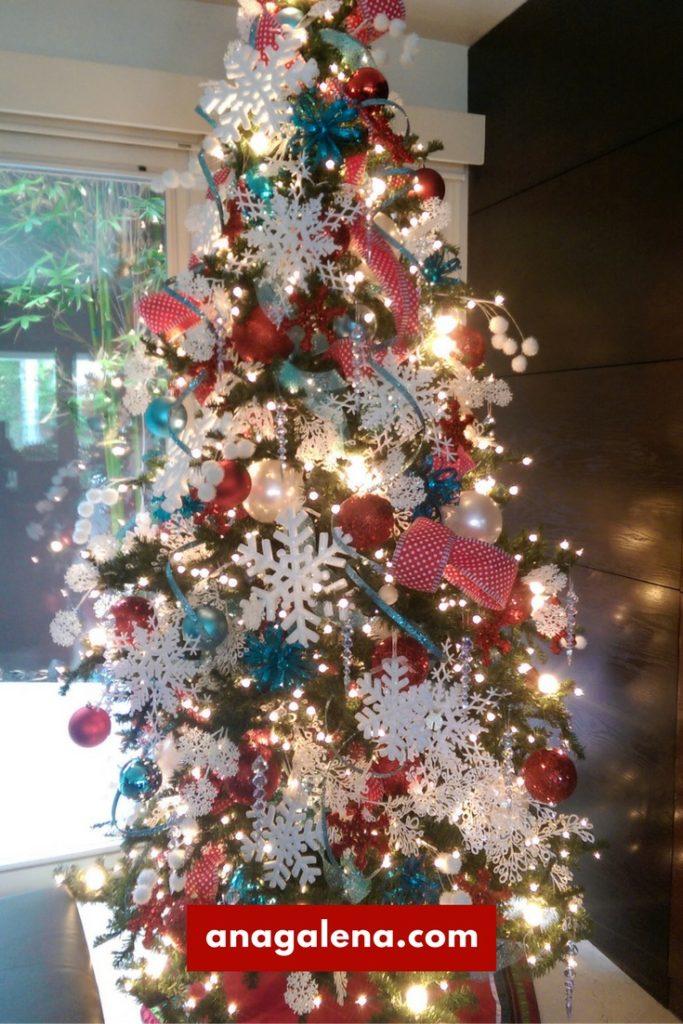 40 ideas para decorar tu rbol de navidad ana galena for Arbol navidad turquesa