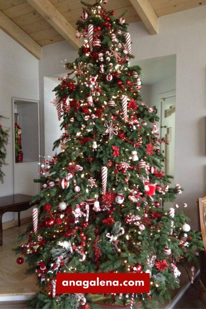 40 ideas para decorar tu rbol de navidad ana galena - Arbol de navidad en blanco ...