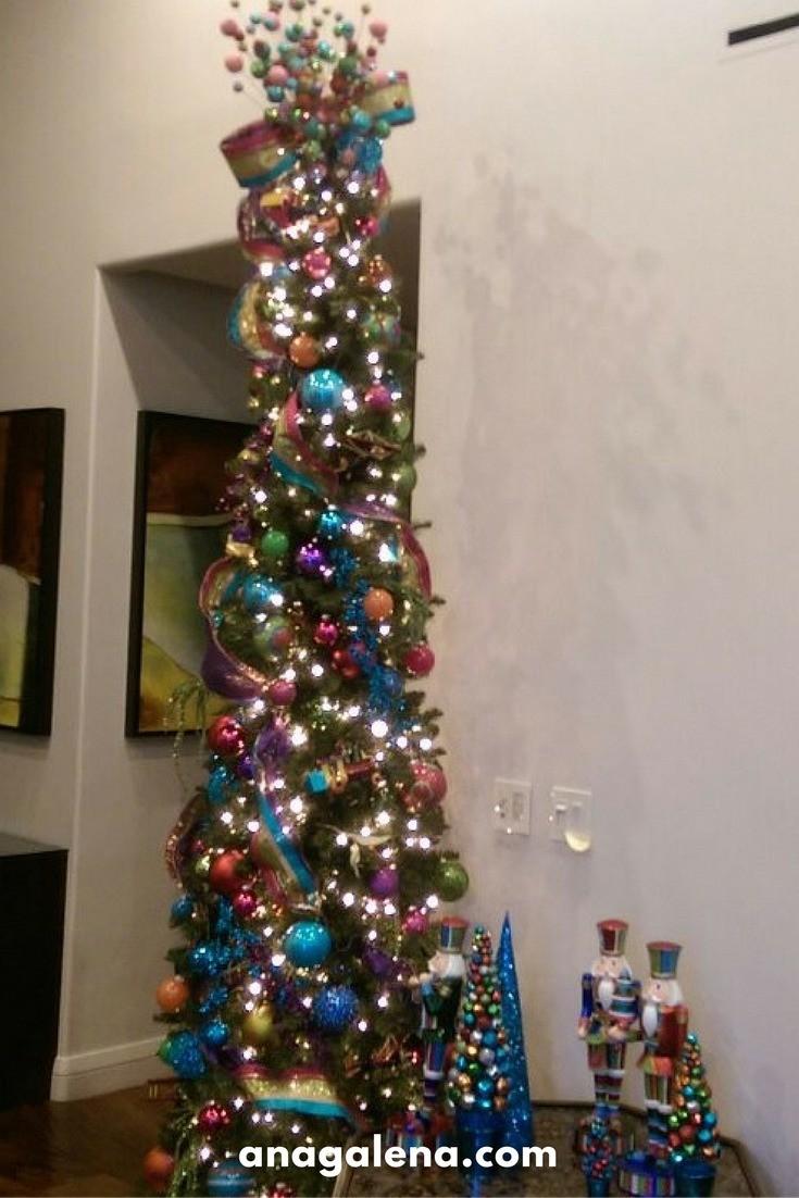 40 ideas para decorar tu rbol de navidad ana galena - Como decorar un arbol de navidad moderno ...