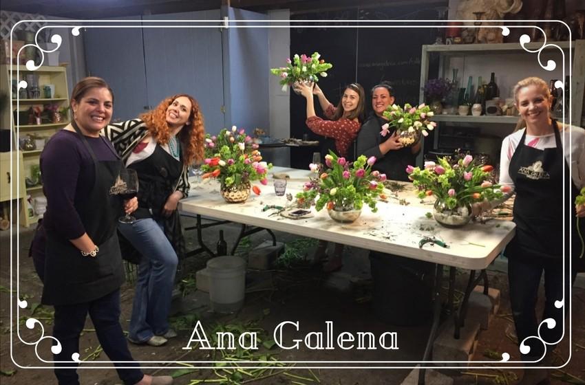 Fiesta de flores y vino con las amigas