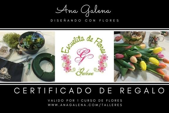 También tenemos Certificados de Regalos para los cursos de flores