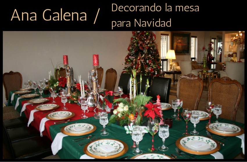 Centro de mesa navideo Ana Galena