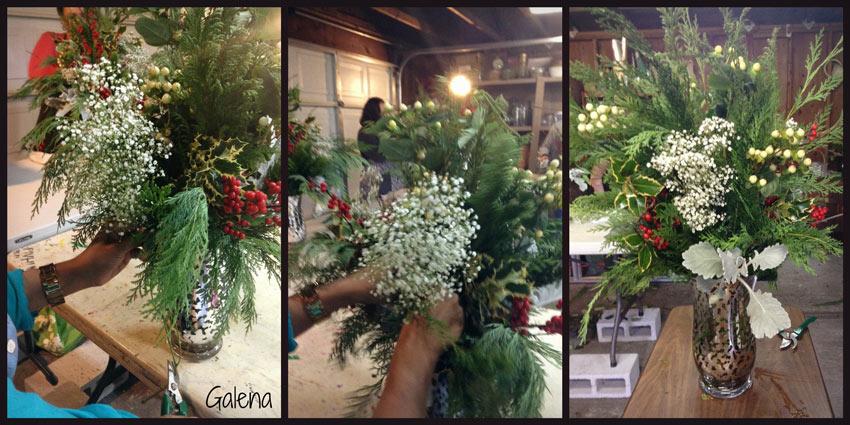 Navidad-Christmas-Arreglo-navideño-nube-baby-breath